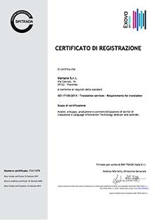 Certificazione ISO 17100
